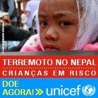 UNICEF sobre a campanha de doações para as crianças do Nepal.